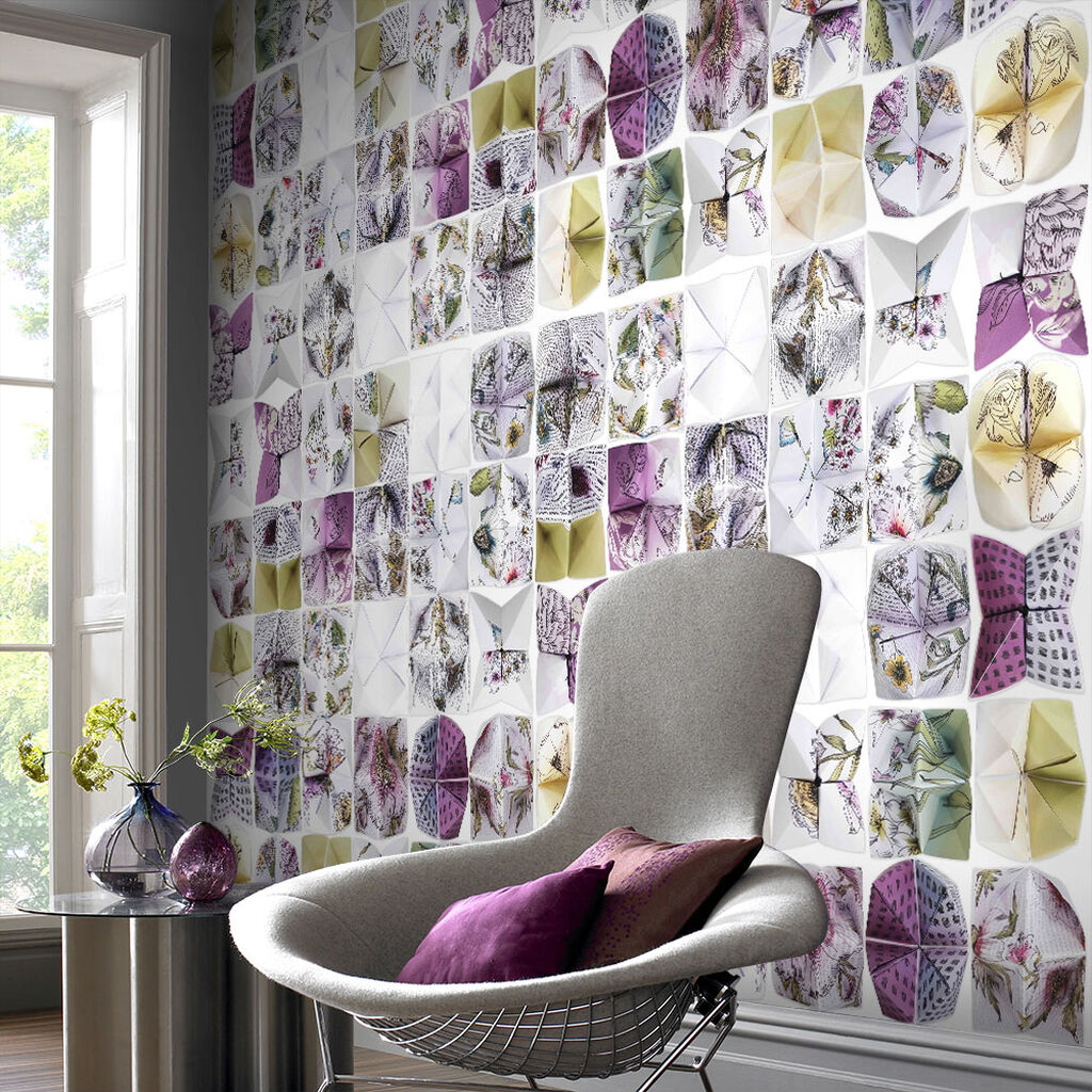 Couture Botanical Origami Ready Made Mural